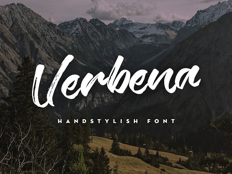 Download Verbena Handstylish Font