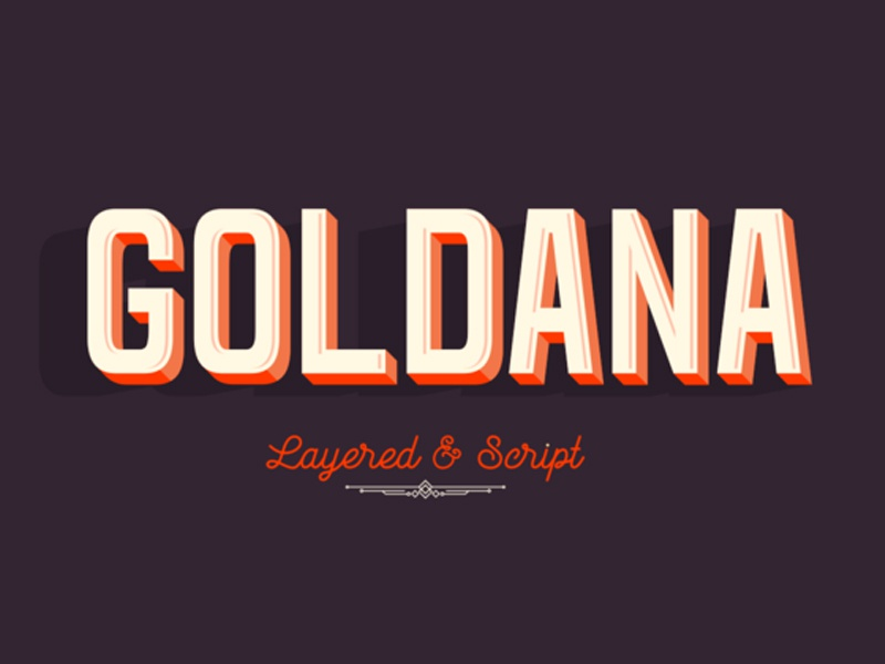 Download Goldana Font Family