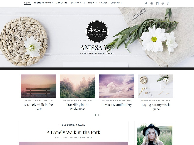 Download Anissa – Free WordPress Blog Theme