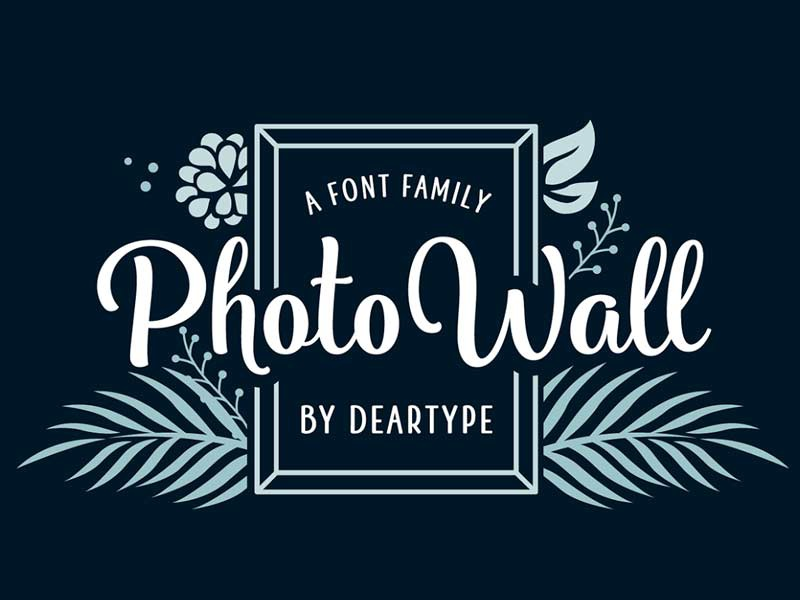 Photowall Font Family typefaces typeface fonts font download portfolio design graphic freebies freebie free