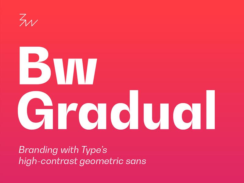 Bw Gradual Free Font