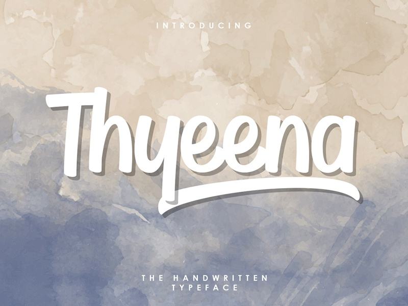 Thyeena – Free Handwritten Typeface