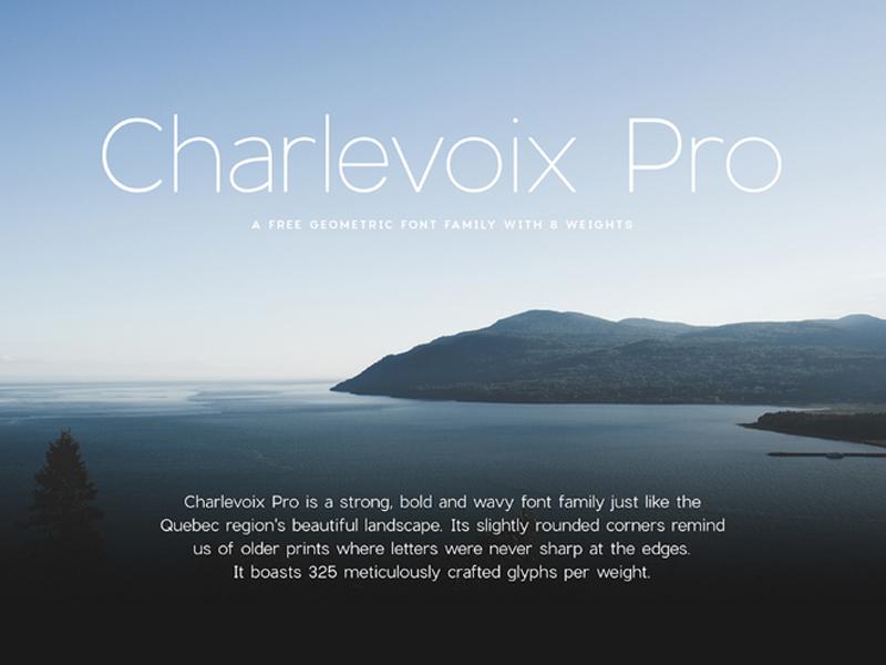 Charlevoix Pro – Free Font