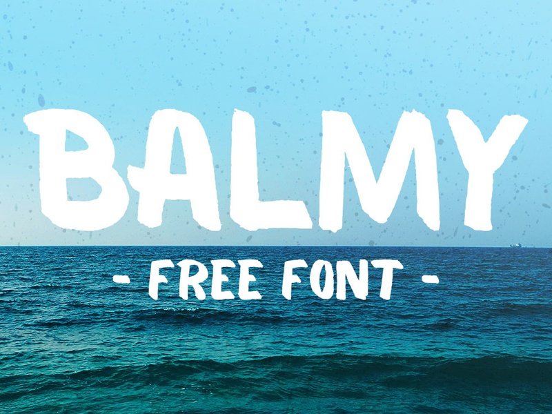 Balmy Free Brush Font