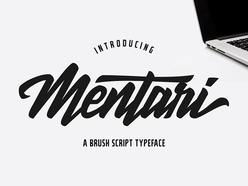 Mentari Free Brush Script Font By Zunkle Dribbble