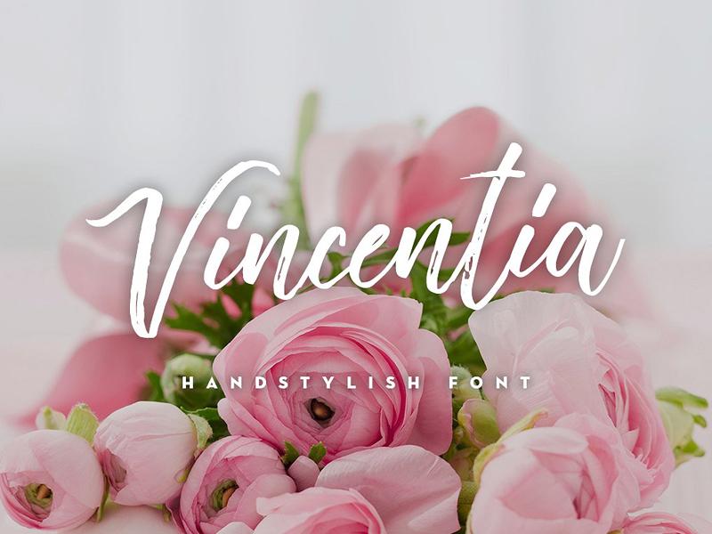 Vincentia Handstylish Free Font