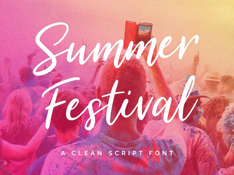 Summer Festival Free Typeface