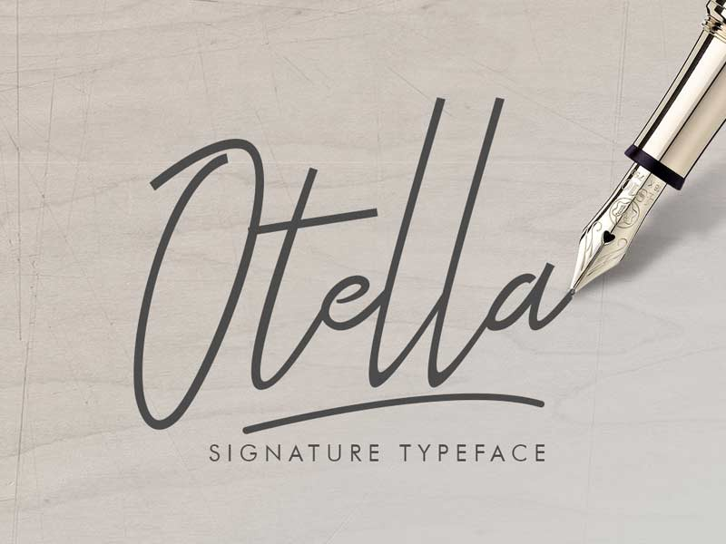 Otella Signature Free Font