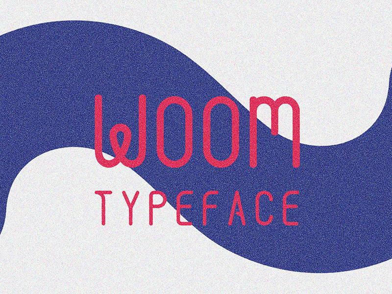 Woom Free Typeface typefaces typeface fonts font download portfolio design graphic freebies freebie free
