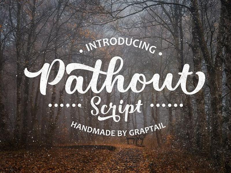Pathout Script Free Font typefaces typeface fonts font download portfolio design graphic freebies freebie free