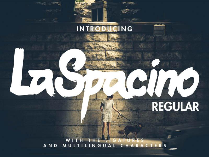 Laspacino Free Typeface