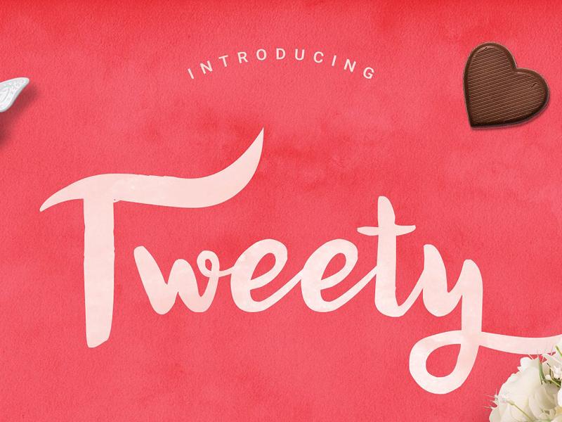 Tweety Sweety Script Free Font