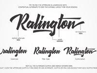 Ralington script font 1