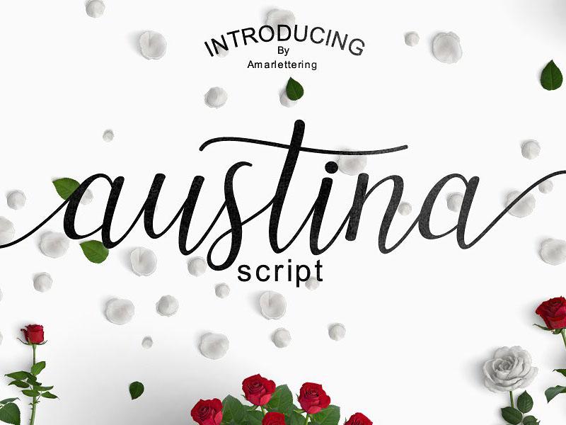 Austina Script Free Font