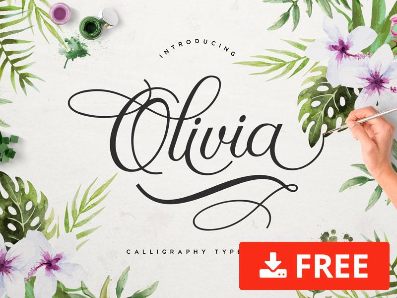 Olivia Script Free Font
