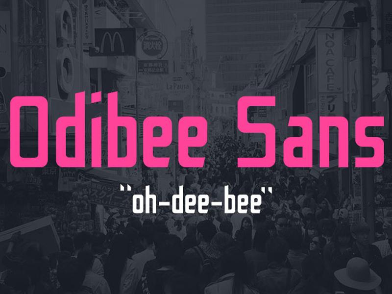 Odibee Sans Font free freebie freebies graphic design portfolio download themes font fonts typeface typography