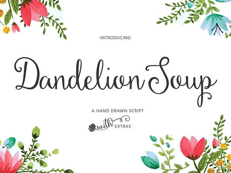 Dandelion Soup Script Free Font
