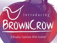 Browncrow Typeface free freebie freebies graphic design portfolio download themes font fonts typefaces icons