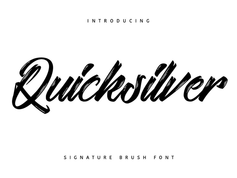 calligraphy fonts free download for photoshop quicksilver font by zunkle dribbble 25507 | quicksilver font