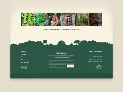 The Nature Place — 3 𝑜𝑓 6 forest tent camping camp outdoors signup illustration nature natural footer webdesign web ux ui
