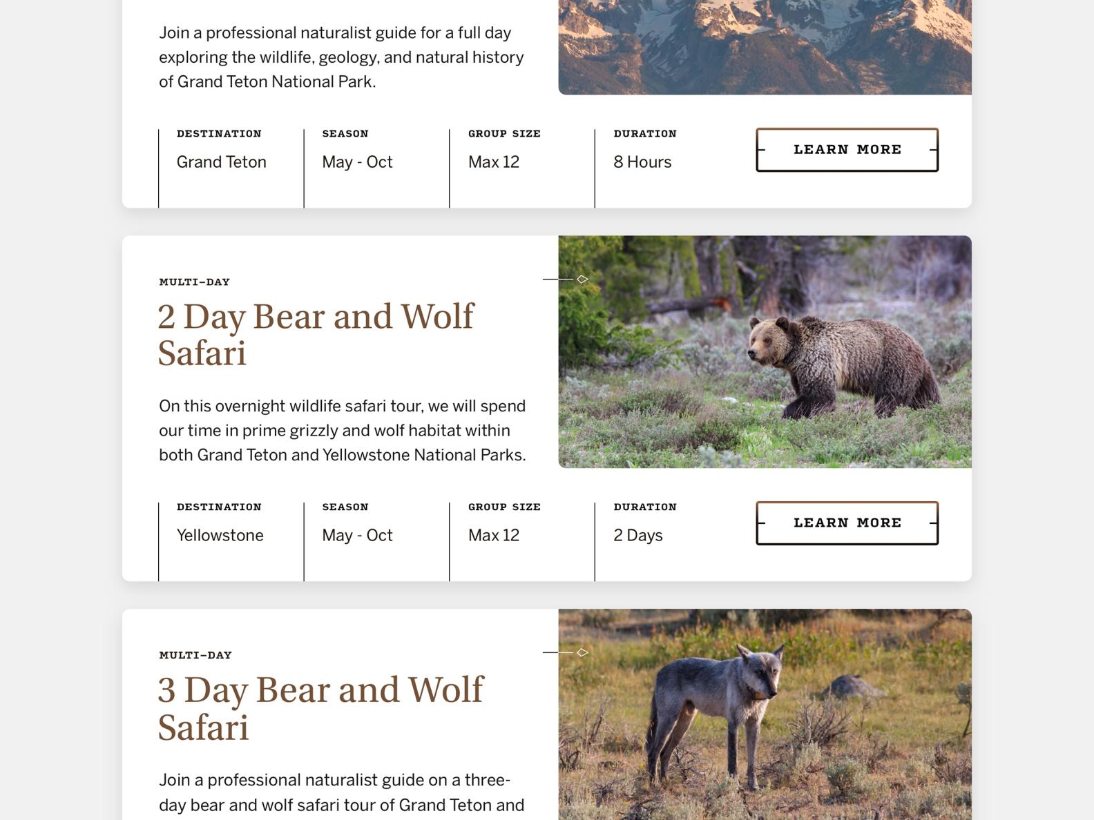 Jackson Hole Wildlife Safaris  —  4 𝑜𝑓 9