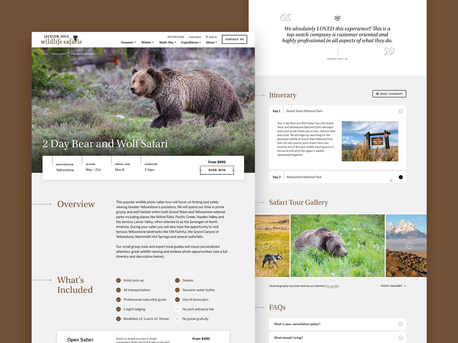 Jackson Hole Wildlife Safaris  —  5 𝑜𝑓 9