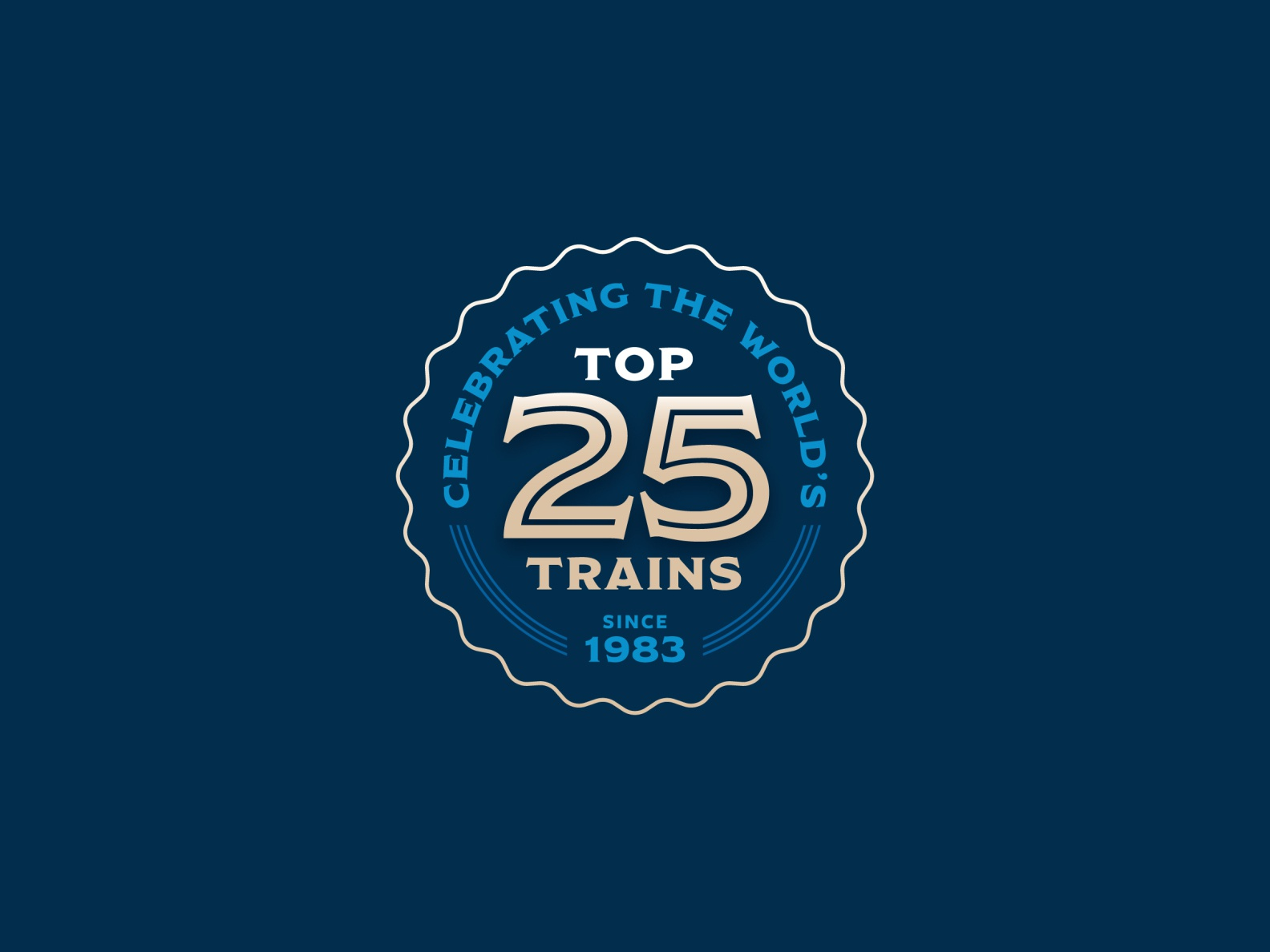 World's Top 25 Trains Badge
