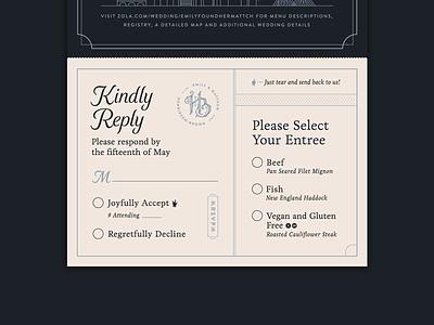 Henriksen-Brown Wedding — 2 𝑜𝑓 5 graphic design rsvp marriage type print card logo branding typography save the date filigree boston invitation wedding