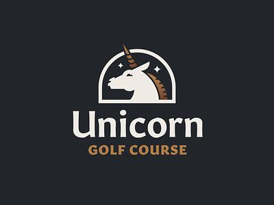 Unicorn Golf Course — 1 𝑜𝑓 3 idenity brand graphic design illustration map key unicorn animal flat clean typography design vector golf logo branding