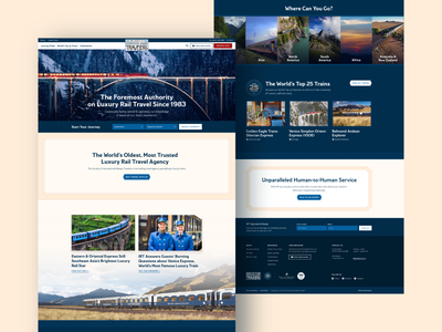 The Society of International Railroad Travelers Homepage antique pattern web design website webdesign luxury vintage ux ui travel railroad train