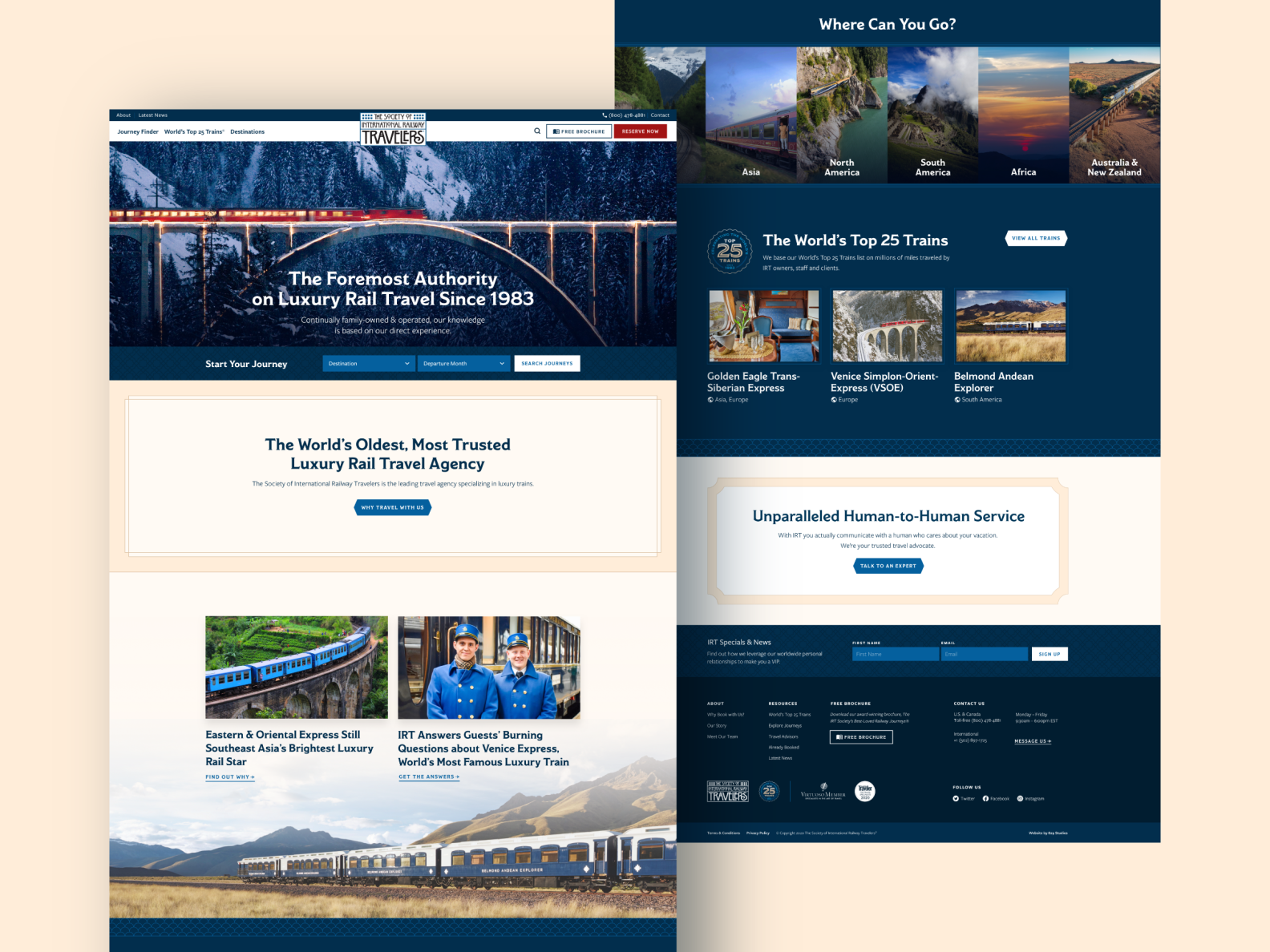 The Society of International Railroad Travelers Homepage