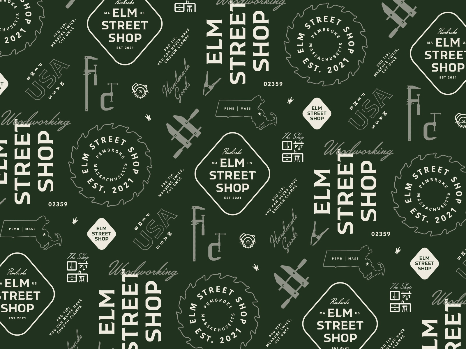 Elm Street Shop — Seamless Pattern