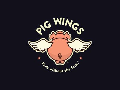 Pig Wings — 1 𝑜𝑓 2 boston graphic designer boston brand bbq wings pig logo