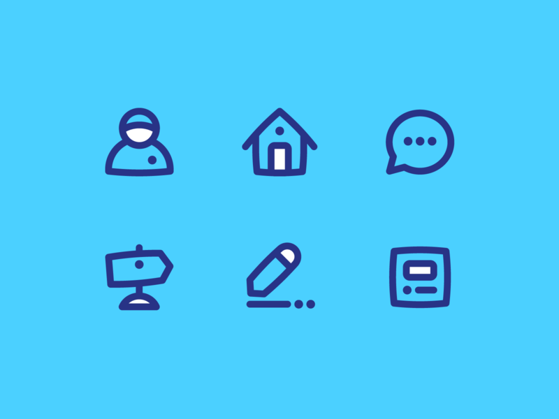 Camp Icon Set directions blogging comment home profile ui web design icon icon set camp