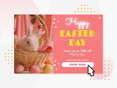 Easter day - website popup lightbox popup pop-ups modal easter bunny offer special ecommerce overlay user interface conversion rate optimisation