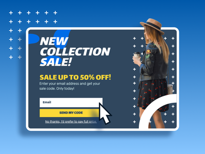 Collection sale - Website popup subscription box subscribe lightbox popup pop-ups modal fashion offer special ecommerce overlay user interface conversion rate optimisation
