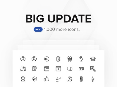 New 1,000 Icons solid icons icon54 v2 upgrade svg big update line pack
