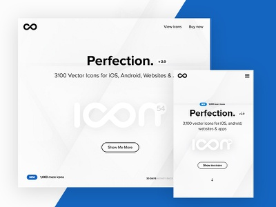 New home page  ux ui site user interface user experience home page icons website landing page pack