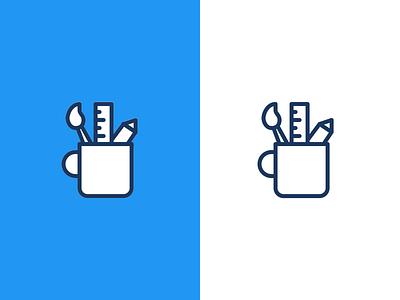 Artist tools icon solid line designer icon icons tool artist