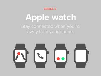 Apple watch - Series 3 mockup phone watch flat color svg icon series 3 apple watch