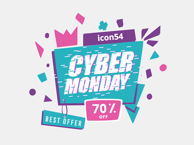 Cyber Monday Sale cyber monday banner sale background icons54 icons svg special offer