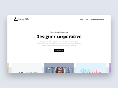 Personal website minimal clean slider projects portfolio website web
