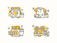 Weekend activity icons