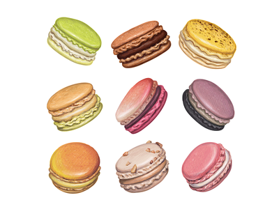 Sweet delicious macarons