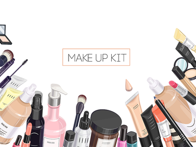Makeup kit makeup artist makeup kit skin care body care cosmetics cream packaging bb cream skincare pattern isolated bottle woman makeup cosmetic vector concealer beauty blogger beauty blog isometric