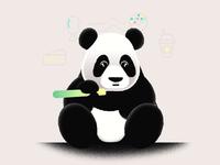 Hungry Little Panda