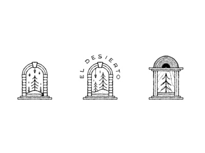 """El Desierto"" Sketches icon design logo illustration branding"