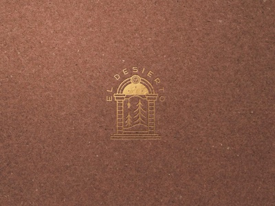 """El Desierto Recording Studio"" Final icon design logo illustration branding"