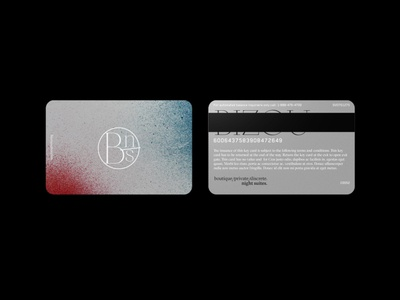 BIZOU: Night Suites Keycard icon design logo illustration branding