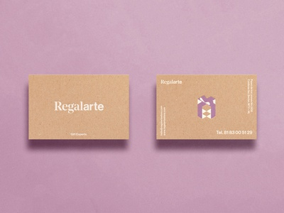 Regalarte. Gift Experts. Business Card vector illustrator icon design logo illustration branding
